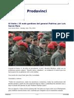 Al Limite El Nudo Gordiano Del General Padrino Por Luis Garcia Mora