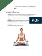 Posturas Básicas de Yoga. Beneficios y Constraindicaciones