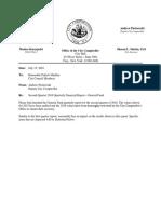 Troy Second Quarter Financial Report