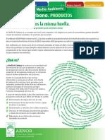Ficha Huella Carbono Productos (Mayo 2013)