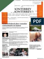 12-07-16 Sedesol Federal Abre Comedor Comunitario en Juárez - Grupo Milenio
