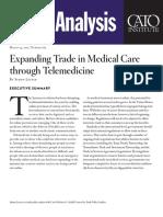Expanding Trade in Medical Care through Telemedicine