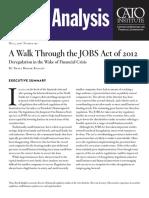 A Walk Through the JOBS Act of 2012