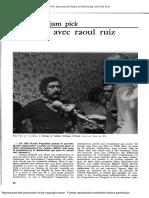 Entretien avec Raoul Ruiz 2 - Positif