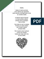 poema para sofía