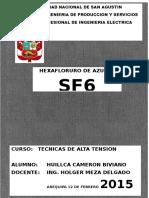 Hexafloruro de Azufre - SF6