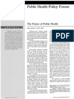 The Future of Public Health
