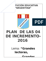 Plan Lector 2016 Argentina.