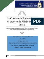 Conciencia Fonológica, un proyecto de investigación educativa