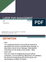 Labor Pain Management