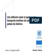CEPAL - Una Reflexion Sobre La Apertura Del Transporte Maritimo de Cabotaje en Paises de America