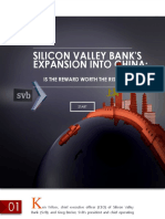 Silicon Valley Bank Expansion Into China