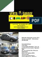 Venta garage Gabriel Medina - Julio 2016