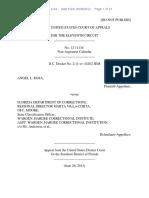 Angel L. Rosa v. Florida Department of Corrections, 11th Cir. (2013)