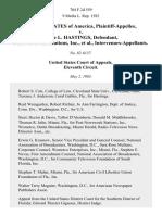 United States v. Alcee L. Hastings, Post-Newsweek Stations, Inc., Intervenors-Appellants, 704 F.2d 559, 11th Cir. (1983)