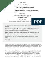 Paul M. Ostera v. United States, 769 F.2d 716, 11th Cir. (1985)