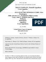 Delong Equipment Company, Cross-Appellee v. Washington Mills Electro Minerals Corp., F/k/a Washington Mills Abrasive Co., Washington Mills Ceramic Corp., John T. Williams and Peter Williams, Defendants- Cross-Appellants, 997 F.2d 1340, 11th Cir. (1993)