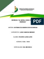 Biomasa - Sistemas de Generacion de Energia (Ricardo Landa Leon)