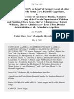 Foster Children v. Jeb Bush, Kathleen Kearney, Chuck Bates, Robert Williams, Ester Tibbs, 329 F.3d 1255, 11th Cir. (2003)