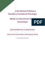 115232202-Intervención Comunitaria y Participación Social12-13