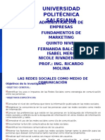 Proyecto Redes Sociales Fundamentos de Marketing