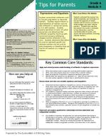 eureka math grade 6 module 4 parent tip sheet