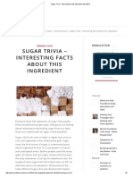 Sugar Trivia - Interesting Facts About This Ingredient