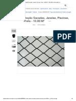 Redes Proteção Sacadas, Janelas, Piscinas, Preta - 10,00 M² - R$ 10,00 no MercadoLivre