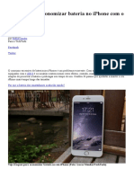 20 Dicas Para Economizar Bateria No iPhone Com o IOS 8