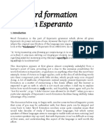 Word Formation in Esperanto