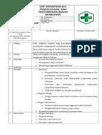 Sop Inventarisasi Pengelolaan Dan Penyimpanan Bahan Berbahaya