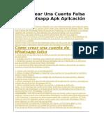Cómo Crear Una Cuenta Falsa Con Whatsapp Apk Aplicación VoxOx