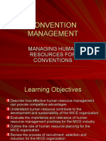 Convention Management- Managing Human Resource