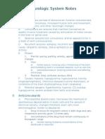neurologic drugs notes