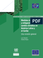 Medidas de Adaptacion y Mitigacin Frente Al Cambio Climatico en Al y El Caribe