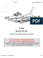 Cockpit Interior Checklists