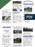 Triptico Macchu Picchu
