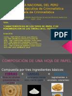 Tipos de papel y perennización de tintas en el tiempo