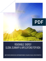 Renewable Energy-Global Summary & Implications for India