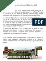 La Historia de La Institución Educativa 2024
