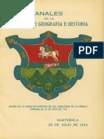 1924.- Anales de La SGHG - n°. 1