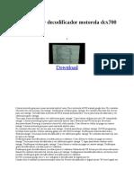 decodificador motorola dcx700
