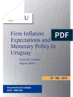 Firm inflation expectations and monetary policy in Uruguay