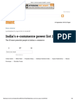 India's E-commerce Power List 2015