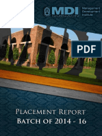 Final Placement Report Batch of 2014 - 16