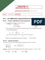 Cours Fractions Cinquieme