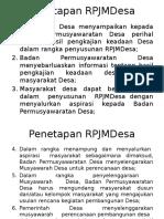 Penetapan RPJMDesa