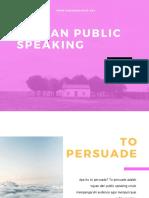Tujuan, Manfaat dan Public Speaking yang Baik