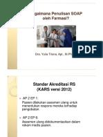 Presentasi SOAP Oleh Farmasi KARS Sept 2015