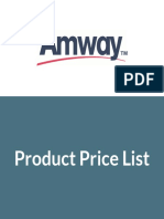 Amway Product Price list India